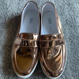ASOS Shiny Rose Gold Loafer